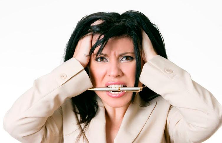 Стресирана жена